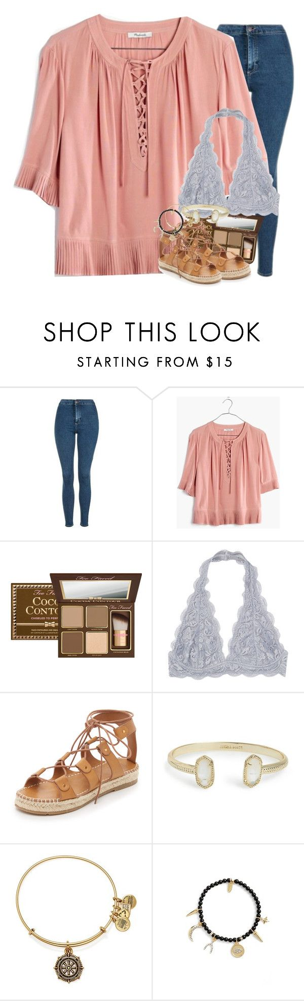 """there's plenty of fish in the sea that will treat you right."" by ellaswiftie13 on Polyvore featuring Topshop, Madewell, Too Faced Cosmetics, Charlotte Stone, Kendra Scott, Alex and Ani and Ettika"