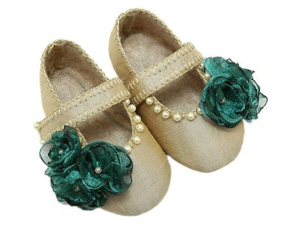 Elizabeth Baby Girl Shoe in Silk, Pearls, Teal Green ,slipper/bootie Infant, Toddler, Pre School, Handmade by Pink2Blue.: Fashion Place, Baby Girls Shoes, Pearls Teal, Pretty Baby, Elizabeth Baby, Teal Green, Silk Pearls, Baby Girl Shoes, Baby Shoes New