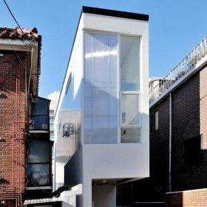 Three-metre-wide+house+in+Seoul+by+AIN+Group+accommodates+three+individual+residents
