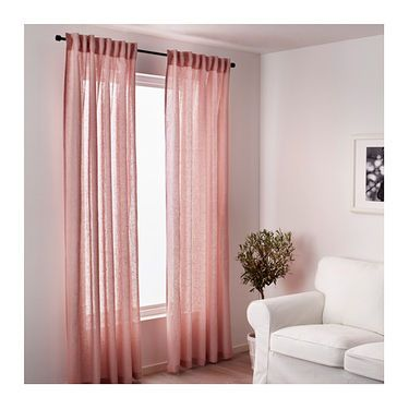 IKEA LEJONGAP curtains, 1 pair The curtains can be used on a curtain rod or a curtain track.