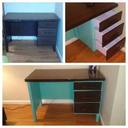 @jessicarosestitchery on Instagram! Refurbished desk (: #diy