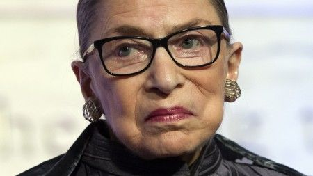 It was OK for Antonin Scalia, but reoublicans want to hold Ruth Bader Ginsburg to a higher standard, of course. She is a Democrat.  The founding fathers did not see the same need to preserve an illusion that the Court is above politics.