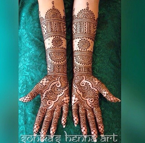 2015 Mehndi Maharani Finalist: Sonika's Henna Art http://www.maharaniweddings.com/gallery/photo/50937