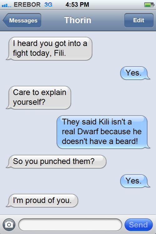 Aww, poor Kili! Fili is a great big bro! (Im might have an obsession with these characters)