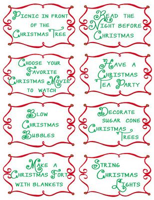 Advent Countdown Calendar Including 100 Activities: FREE Printables - Design Dazzle