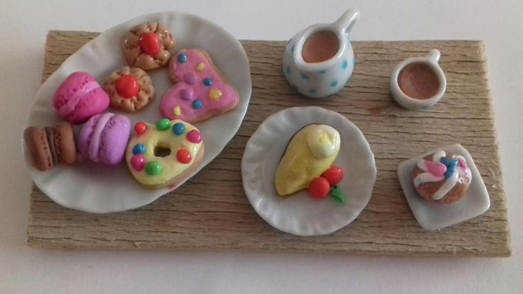Lots of sweeties from polymer clay☕🍩🍰