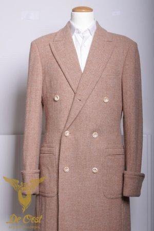 Tweed Double Breasted Overcoat Tweed Double Breasted Overjas