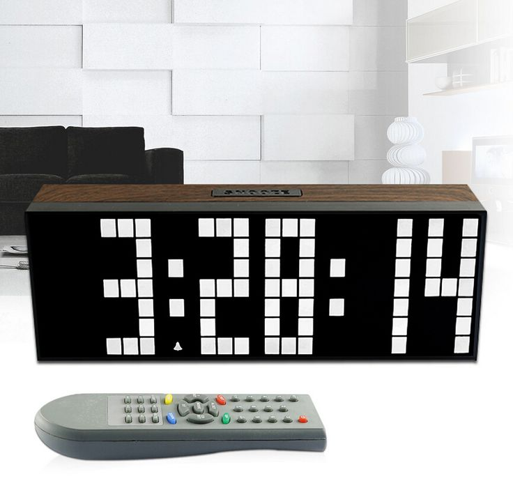 2017 New Remote Retro Wood Wall Led Digital Clock Table Alarm Large Stopwatch Timer Date Large Digits Show Temperauture Series 3
