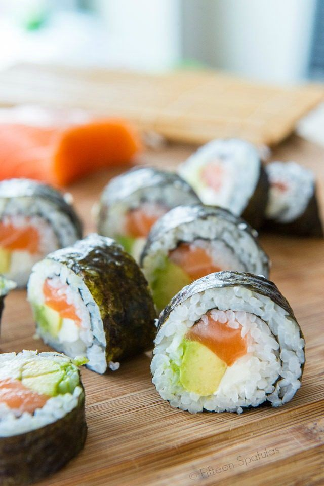 Homemade Sushi is so much cheaper than at the restaurant! from @fifteenspatulas