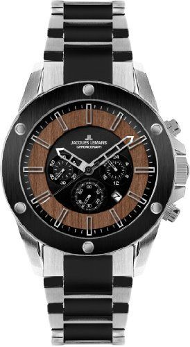Jacques Lemans Men's 1-1690C Liverpool Wood Sport Analog Chronograph Watch Jacques Lemans.