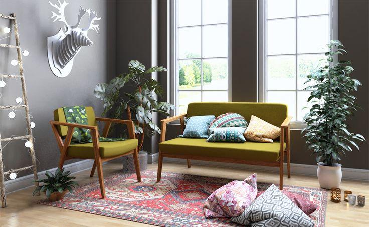 Ciptakan tampilan Boho di hunian Kamu dengan koleksi sofa Eton dari Fabelio. Dapatkan inspirasinya dengan klik link di foto ini.