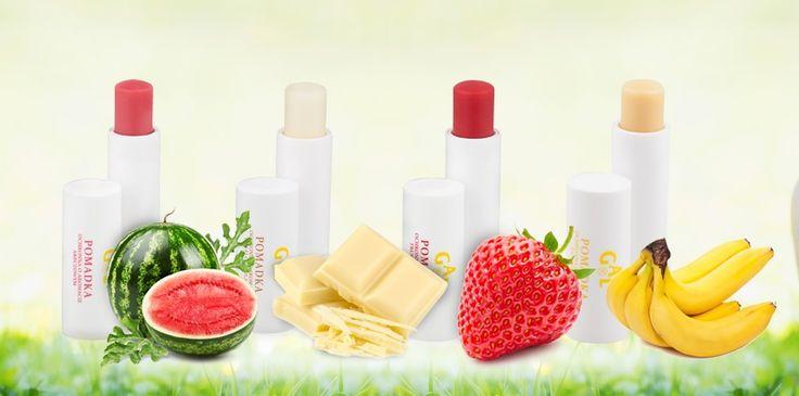 Pomadki GAL o aromatach letnich owoców i białej czekolady.