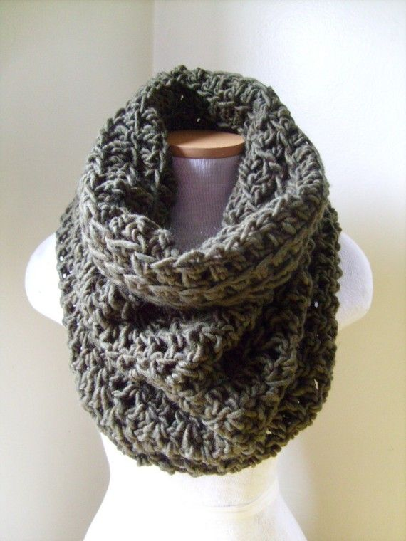 Big Chunky Cowl Neckwarmer Scarf Lichen by QueenHeronCreations, $65.00 #cowl #scarf