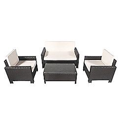 palm springs garden furniture lux rattan wicker sofa set wchairstable cushions