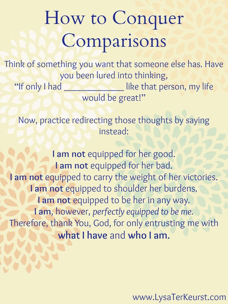 How to Conquer Comparisons-for more information and encouragement, click the link to visit my blog!