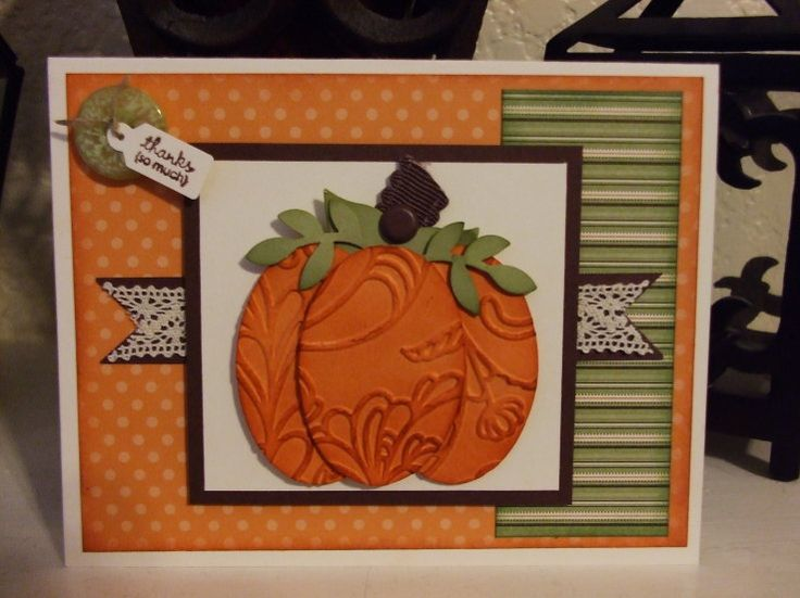 Pumpkin Card using the oval punch