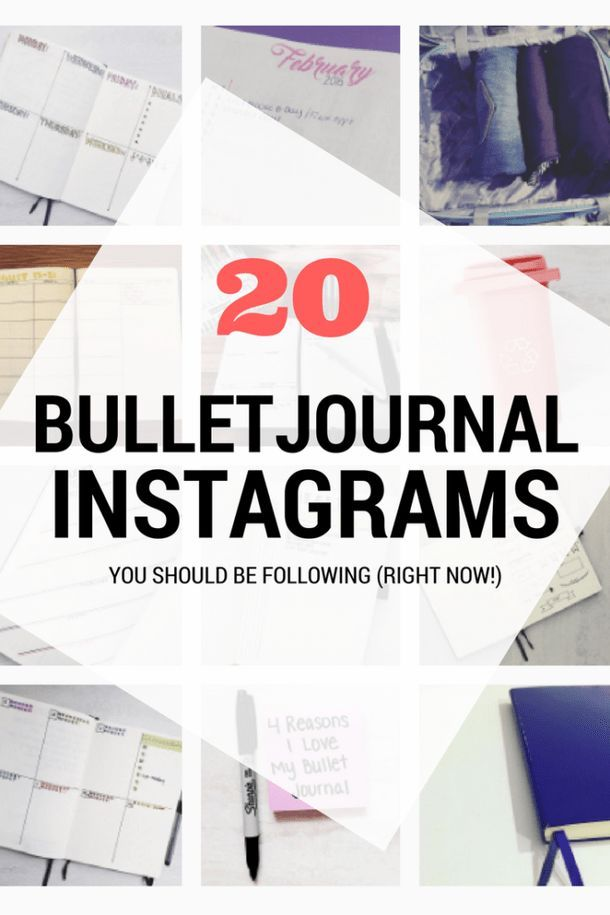 20 Bullet Journal Instagrams you should be following!  #bulletjournal