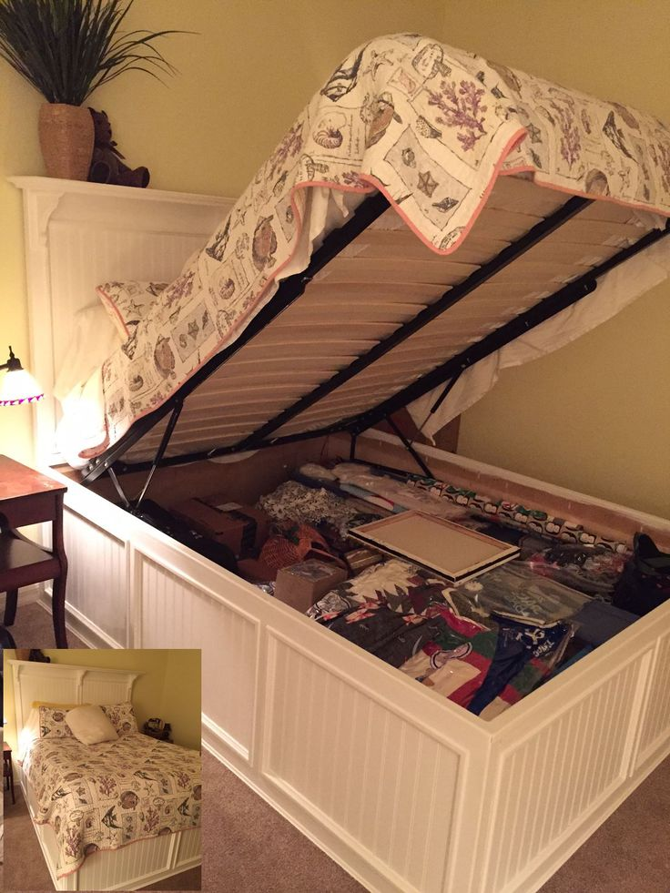 because our new house is storage limited judy wanted a master bed that - Bed Frame With Storage Queen