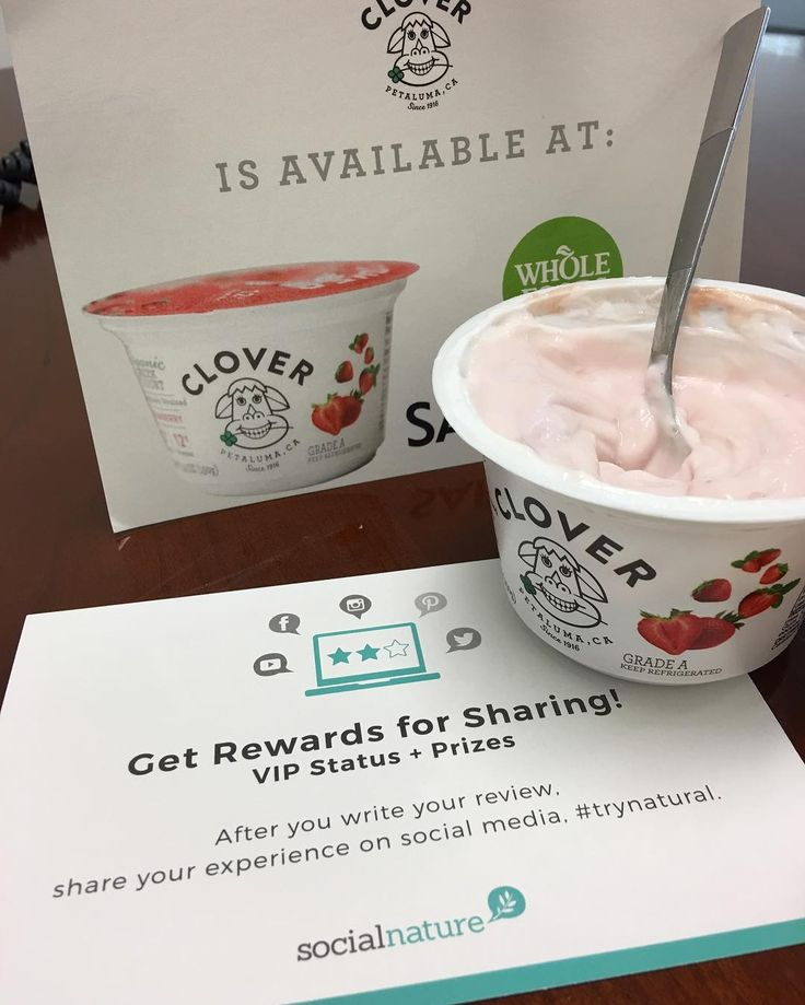 Thanks for some #organic goodies #socialnature @socialnature #clover yogurt is pretty dang good. #gotitfree #yum #healthyfood #trynatural
