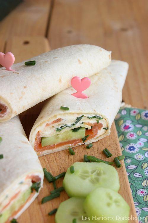 Wraps saumon fumé concombre fromage frais (3)