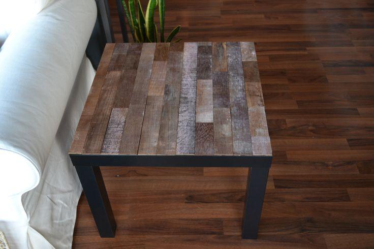 #Stikwood Reclaimed Barrel Oak + Ikea Lack table