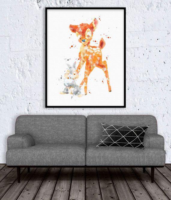 Bambi et Panpan aquarelle Art Print. Il s'agit d'une aquarelle fine art impression jet d'encre fabriqué à partir d'une oeuvre originale.  6 tailles différentes: en vente! 5 x 7 pouces : vente-prix : 9,99 $ (prix régulier : 15 $) 8 x 10 pouces : vente-prix : 14,99 $ (prix régulier : 20 $) Format A4 (8.3x11.7»): vente-prix: 16,99 $ (prix régulier: 22 $) 11 x 14 pouces: vente-prix: $19.99(Regular Price: $25) A3 (11.7x16.5»): vente-prix: 21,99 $ (prix régulier: 27 $) 13 x 19 pouces…
