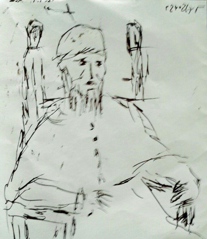 Portrait of Pope Julius II (study)  by Yorgos ΖΗΤΩ ,2017