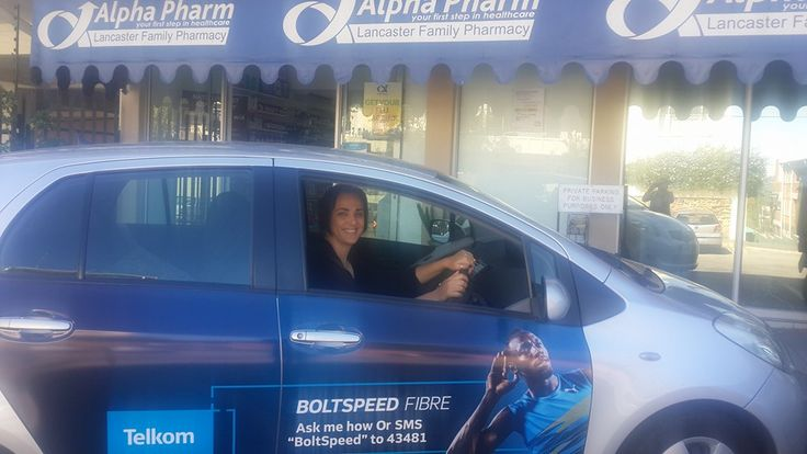 One of our #TelkomFibre drivers getting paid to get the conversation started. #EarnExtraCash #BrandYourCar #Bucks4Influence