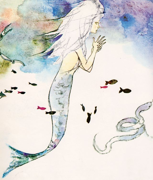 The Little Mermaid by Hans Christian Andersen, illustrated by Chihiro Iwasaki, adapted by Anthea Bell (1984)