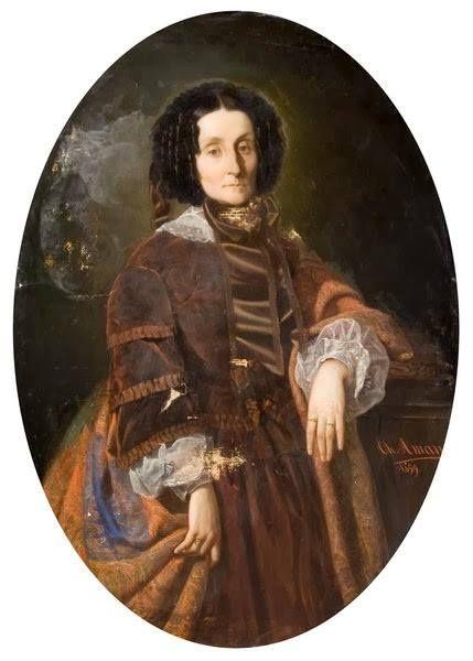 """Theodor Aman - """"Portretul principesei Zoe Brancoveanu"""""""