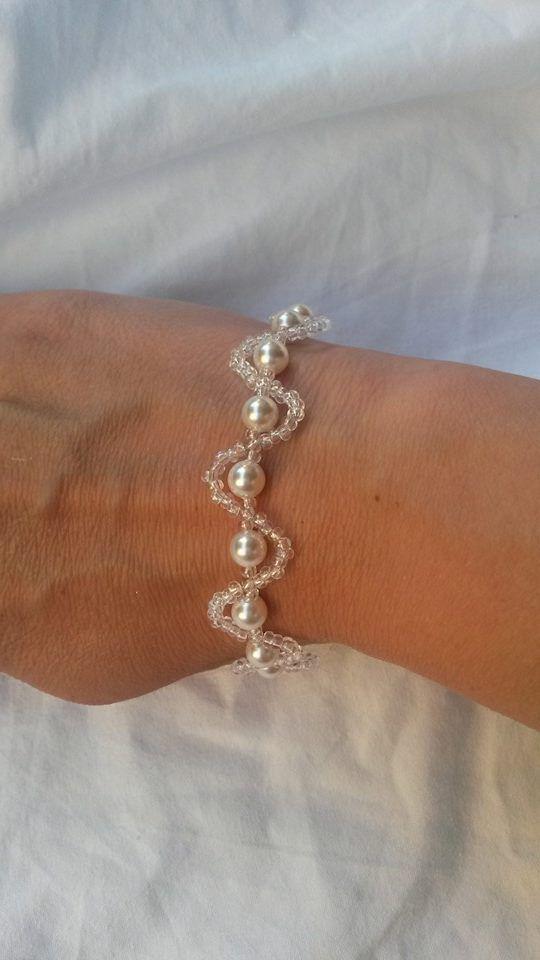 Braccialetto in perle e perline