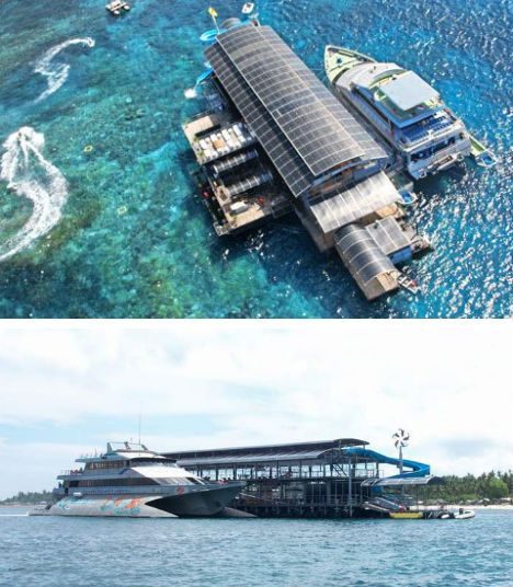 Floating Restaurants Around the World  Nusa Penida Island Floating Restaurant, Indonesia