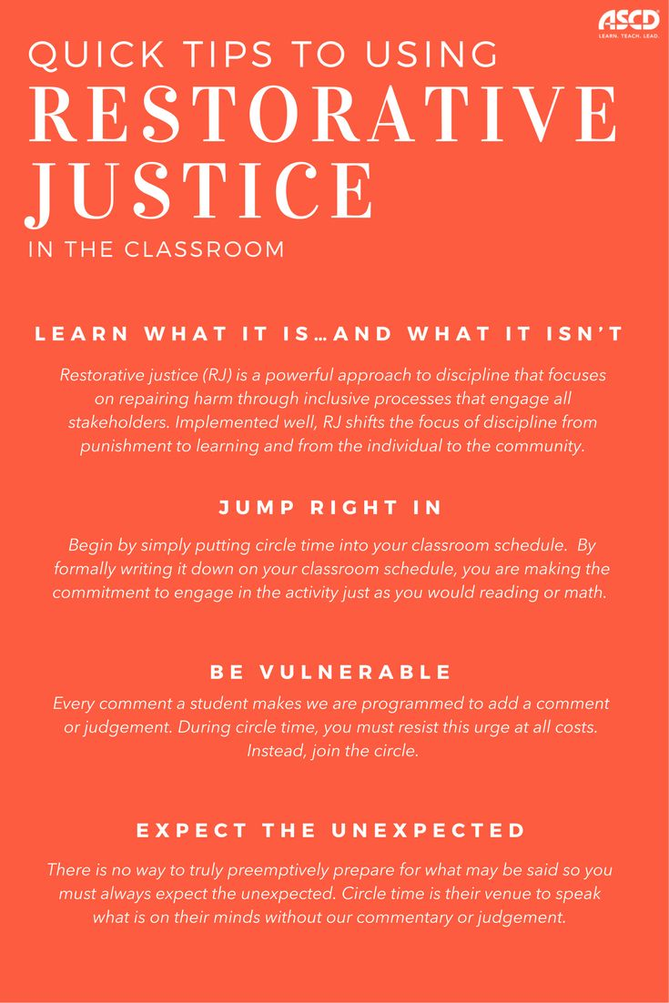 Let's face it, trying something new is scary. Here are so quick tips to using restorative justice.