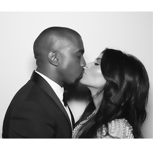 Pin for Later: You'll Love Scrolling Through These Cute Celeb Couples' Snaps Kim Kardashian and Kanye West Wedding pictures, paparazzi shots, and candids are all fair game for these two.