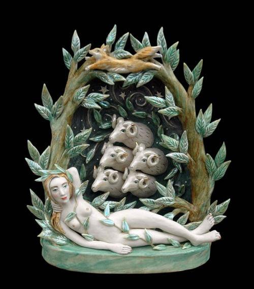 Eleanor Bartleman...little bo peep  fairytale ceramics!