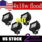 "4 x 4"" 18W LED Work Light Bar CREE Driving Flood Lamp Offroad SUV ATV Truck UTE"