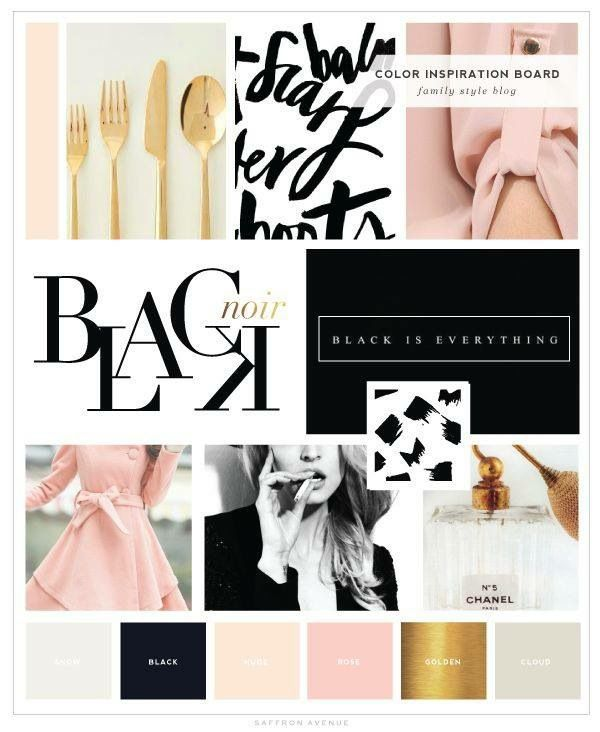 Rose Gold Brand Board Template for Canva   Mood Boards