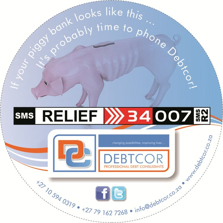 Don't have any money available after you've paid your Debt...?  SMS RELIEF to 34007