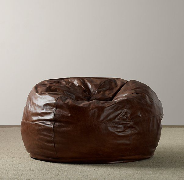 Leather Bean Bag A Luxurious Cover Transforms Childhood Essential Into Chair Fit For The Family Room Ideal Sitting On Laying Across Or