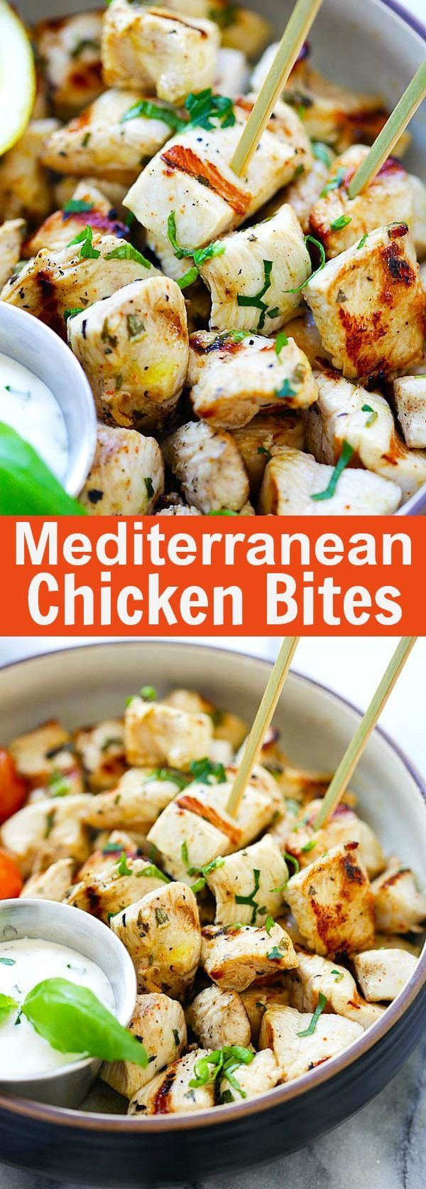 Mediterranean Chicken Bites – juicy, tender and the most flavorful chicken bites with Mediterranean marinade. So easy to make and delicious  :