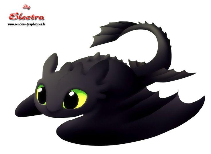 Render Autres dessins animés - Renders Chibi bebe Krokmou dragons dreamwork electra