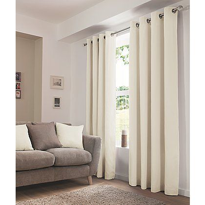 George Home Cream Eyelet Curtains | Home & Garden | George at ASDA