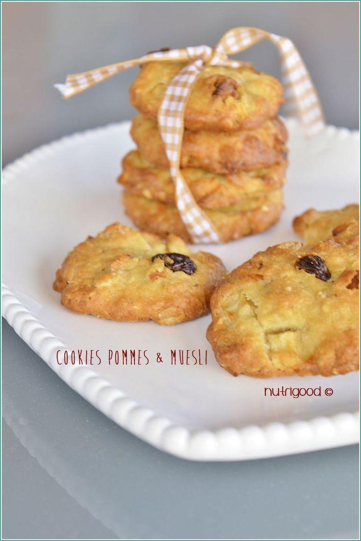 Une recette de cookies sans beurre, réalisée avec un muesli et des pommes, et comme bien souvent sur ce site, c'est une recette peu sucrée.