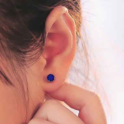 AIWGX 2016 New Fashion Women Men Magnetic Magnet Ear Stud Earrings Clip On No Ear Hole Gift