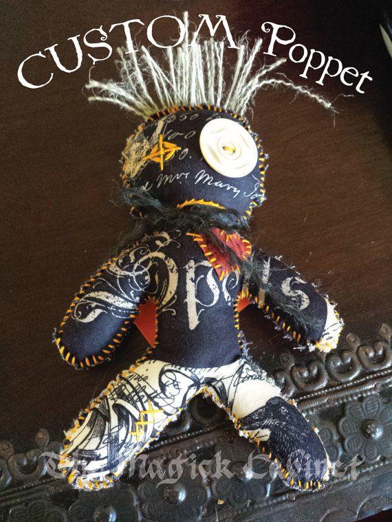 CUSTOM Witches Poppet, VooDoo Doll, Hand Stitched Doll, Handcrafted Voodoo Doll, Cute Voodoo Doll, Witchcraft,Witchery,Louisiana Folk Magic