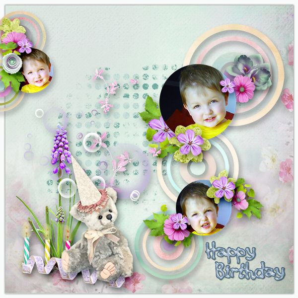 Templates *HAPPY WORLD * by Dafinia Designs  http://www.pixelsandartdesign.com/store/index.php… Kit.*Celebration* by Bee Creation