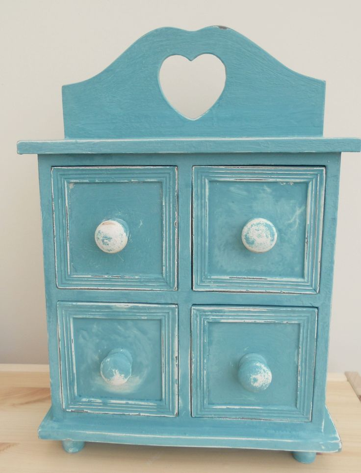VINTAGE PAINTED AND DISTRESSED MINI CHEST OF DRAWERS ~ SOLD ON MY EBAY SITE LUBBYDOT1