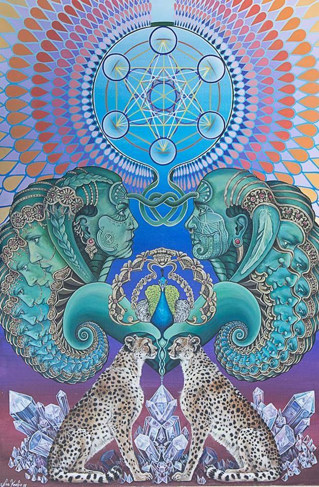 "machineelves: "" ॐ Art by Noa Knafo. Follow Machine Elves for more like this. ॐ """