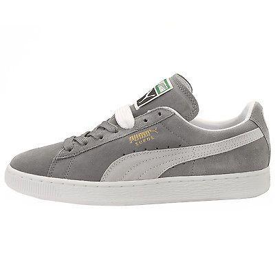 grey puma suede size 5