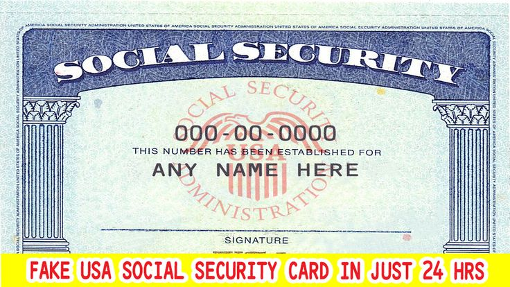 i will design or edit your social security card number and
